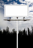 Blank Billboard Sign For Your Message. Blank outdoor billboard advertising sign with space for your message Royalty Free Stock Photos