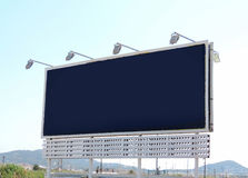 Blank billboard or signboard Royalty Free Stock Images