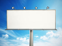Blank billboard at the sky Stock Photography
