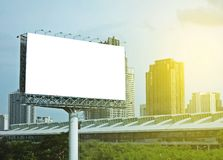 Blank billboard. With sky and building at background stock photo