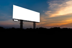 Blank billboard with sky at sunset Royalty Free Stock Photos