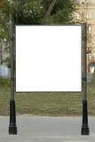 Blank billboard on the street Royalty Free Stock Photos