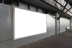 Blank billboard on the street Royalty Free Stock Images