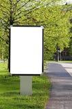 Blank billboard on a street Stock Photos