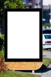 Blank billboard on the street. Background Royalty Free Stock Image