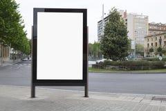Blank billboard in the street Royalty Free Stock Image