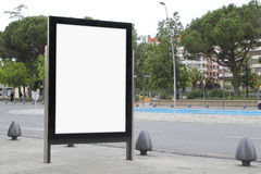 Blank billboard in the street Royalty Free Stock Photo