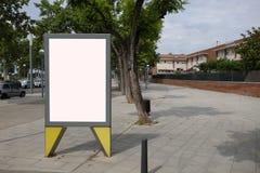 Blank billboard in the street Stock Photography