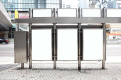 Blank Billboard in the street. Shot in asia, hong kong, great for your copy space stock photography