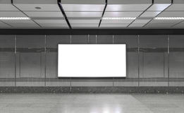 Blank billboard in subway. Useful for your advertising. Royalty Free Stock Photos