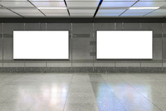 Blank billboard in subway. Useful for your advertising. Blank billboard in subway. Useful for your advertising royalty free stock image