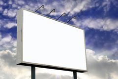 Blank Billboard on Sunset Stock Images