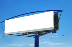Blank billboard template Royalty Free Stock Photos