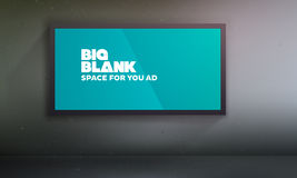 Blank billboard template with easily changeable content Stock Image
