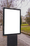 Blank Billboard in Town Centre Stock Photo