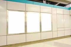 Blank billboard in train station Stock Photography