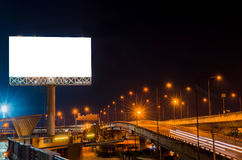 Blank billboard at twilight time for advertisement Stock Photography