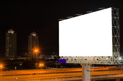 Blank billboard at twilight time for advertisement Stock Image
