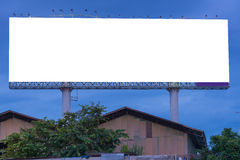 Blank billboard at twilight time ready for new advertisement Royalty Free Stock Images