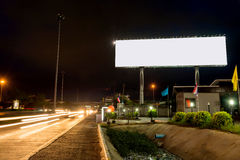 Blank billboard at twilight time ready for new advertisement Stock Image