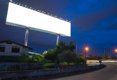 Blank billboard at twilight time ready for new advertisement Stock Photography
