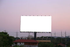 Blank billboard . Useful for your advertisement. Royalty Free Stock Photography