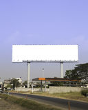 Blank billboard . Useful for your advertisement. Stock Photos