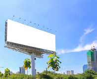 Blank billboard . Useful for your advertisement Royalty Free Stock Image