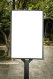 Blank billboard useful for your advertisement for commercial Royalty Free Stock Photography