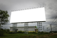 Blank billboard useful for your advertisement for commercial Royalty Free Stock Photo