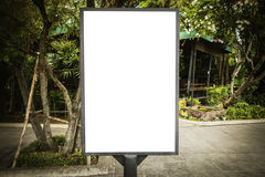 Blank billboard useful for your advertisement for commercial Stock Photography