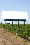 Blank Billboard in a vineyard Stock Photography