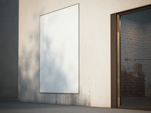 Blank billboard on the wall. 3d rendering Royalty Free Stock Photos