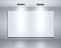 Blank billboard on a wall Stock Photography