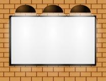Blank billboard at wall Stock Photography