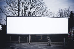 Long blank billboard Royalty Free Stock Images