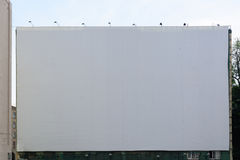 Blank billboard  on white for your advertisement. Blank billboard  on white background for your advertisement Stock Image