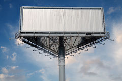 Blank Billboard With Blue Sky Stock Photos