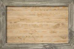 Blank billboard in wooden frame Stock Photos