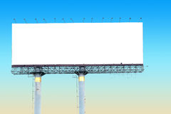 Blank billboard for your advertisement ,with clipping path. Royalty Free Stock Photos