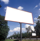 Blank billboards. Blank advertising boards on a roadside Stock Photography