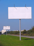 Blank billboards Royalty Free Stock Photo
