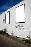 Blank billboards Royalty Free Stock Image