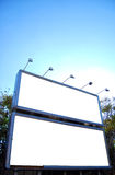 Blank billboards crete Stock Image