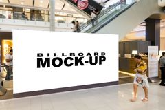 Blank billboards located in shopping mall. Or retail shop, useful for your advertising, with clipping path Stock Photography