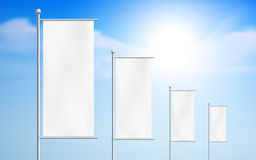 Blank billboards, road signs Royalty Free Stock Image