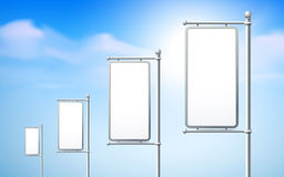 Blank billboards, road signs Royalty Free Stock Photo