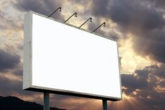 blank billboardu obrazy stock