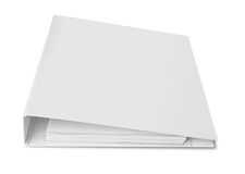 Blank binder for documents Royalty Free Stock Images