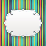 Blank birthday poster on seamless stripes pattern background Royalty Free Stock Image